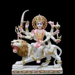 Maa Durga White Marble Statue