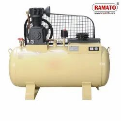 RMT-10 3 HP 2 Piston Single Stage Air Compressor With 175 LTR Tank