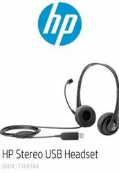 Wired Black HP Stereo USB Headset, Model Name/Number: T1A67AA