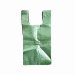 U Cut Plain 18 Micron Green Id Carry Bag, Capacity: 5 Kg