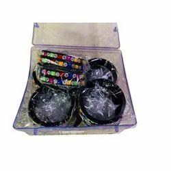 Stones Design Regular Black Traditional Baby Bangle
