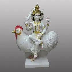 Marble  Murgan Devi Statue