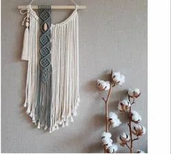 Natural Color Cotton Decorative Wall Hanging, For Decoration