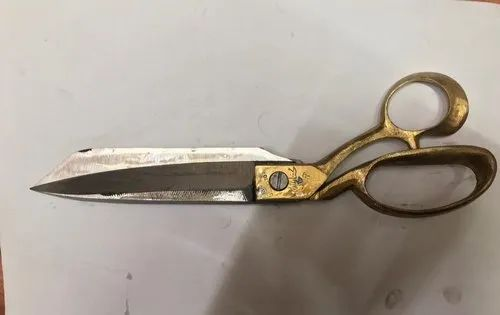 10Inch Tailoring Indian Brass And Steel Scissor Professional Fabric Cutter Tool