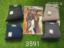 Cotton/Linen Plain Mens Casual Trouser