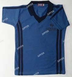 Polyester Half Sleeves Sports T-Shirt, Age Group: 3 To 18 Years