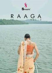 Shangrila Creation Raaga Vol 3 Soft Linen Digital Floral Print Designer Saree Catalog