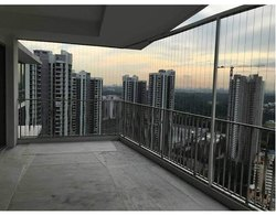 Aluminium Exterior Balcony Security Grill, For Home