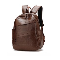 Leather Brown Backpack, Bag Capacity: 25 L