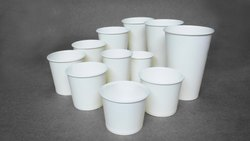 White Printed Plain Disposable Paper Cups, Capacity: 50 To 150 Ml, Packet Size: 100 Pieces