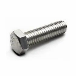 Full Thread Stainless Steel Hex Head Bolt, Grade: SS202, Size: 3 Inches (length)