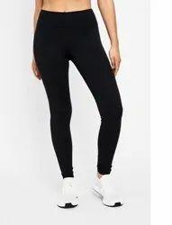 Straight Fit Plain VG Sports Black Leggings