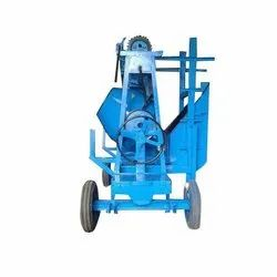Semi Automatic Concrete Mixer With Lift