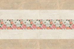 Ceramic Matt Arena Bloom Decor Floral Bathroom Wall Tile, Size: 300 x 600 mm, Thickness: 5 mm