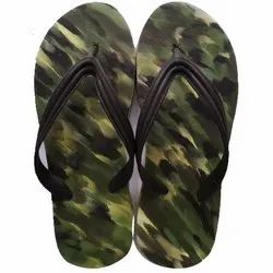 Multicolor Eva Rubber Army Print Green Slippers, 14 Mm, Size: 6 - 10