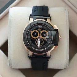Analog New Tissot Men Black Wrist Watch