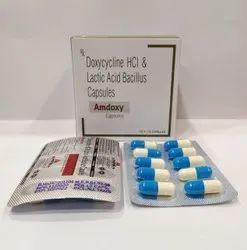 Amdoxy Doxycycline 100mg Lactic Acid Bacillus 60 Millions Spores Capsules