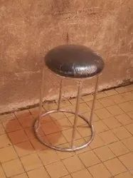 Megafab Polished Stainless Steel Round Stool