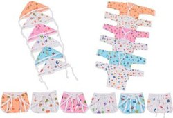 Baby''s Hosiery Cotton 6 Full Sleeve Jhabla Set With 6 Nappies And 6 Cap (multicolor)