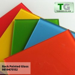 Multicolor Plain Back Painted Glass, Thickness: 4 Mm Extra Clear