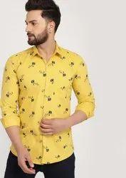 Mens Printed Cotton Stylish Shirt, Size: M-xxl