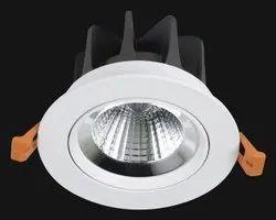 Cool White Galaxy Series LED COD Round Downlight, IP33, 12 W