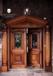 Exterior Wooden Main Door, For Home