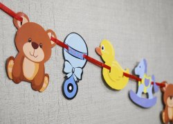 Pretty Paper Toy Banner, For Decoration