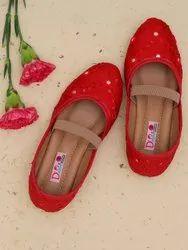 PVC Ballerinas Girls Red Shoes
