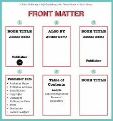 Self Publishing Information Pages