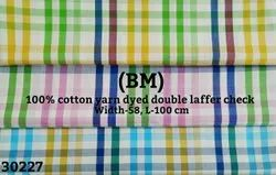 Bm Cotton Yarn Dyed Double Laffer Check Shirting Fabric