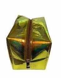 Pouch Yellow Cosmetic Makeup Bag, Rectangular