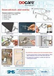 Docare safe touch - steel covid key