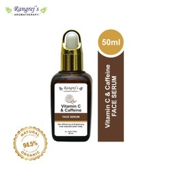 Rangrej''s Aromatherapy Vitamin C & Caffeine Face Serum For Skin Whitening And Uneven Skin Tone 50ml