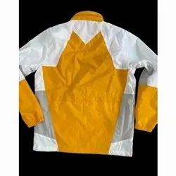 Full Sleeve White and Yellow Mens Party Wear Blended Jacket, Size: S-XXL