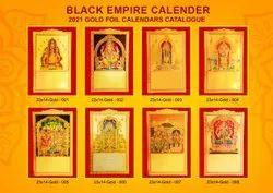 Gold Foil Calendar