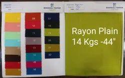 L-97 Rayon Dyed Fabric, GSM: 140, Design/Pattern: Plain