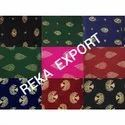 Golden Slub Printed Fabric