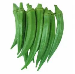 Pan India A Grade Green Lady Finger, Carton, Packaging Size: 5 Kg