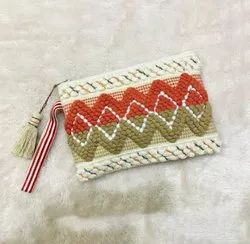 Stylish Multi Color Dari Cotton Pouch Bag