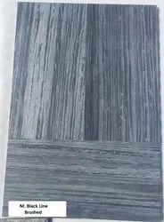 M. Black Line - Brushed Tiles