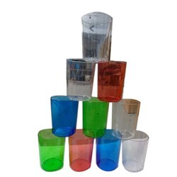 PET Plastic Multi Colored Drinking Glass, For Home, Capacity: 400 Ml