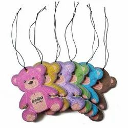 Scenters Teddy Bear Hanging Paper Car Air Freshener 4mm Thick