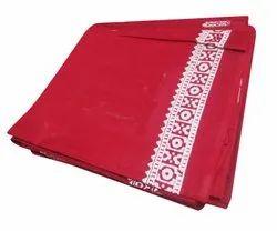 Maroon Printed Border Mogi Cotton Gamcha