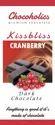 Chocoholics Bar Kiss Bliss Cranberry Dark Chocolate