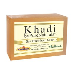 byPureNaturals Khadi Sea Buckthorn Soap- 125 Gm