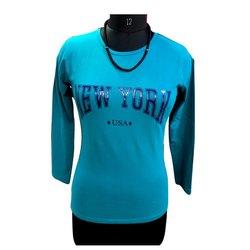 Sonex Gold Sky Blue DN 14 Ladies Cotton T Shirt