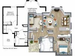 Modular Kitchen & Wardrobe Convert 2D Drawing To 3D Rendering