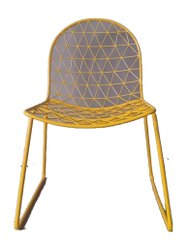 Powder Coated Yellow Wrought Iron Chair