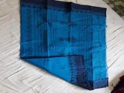 Plain Wedding Designer Cotton Saree, Without blouse piece, 5.5 m (separate blouse piece)